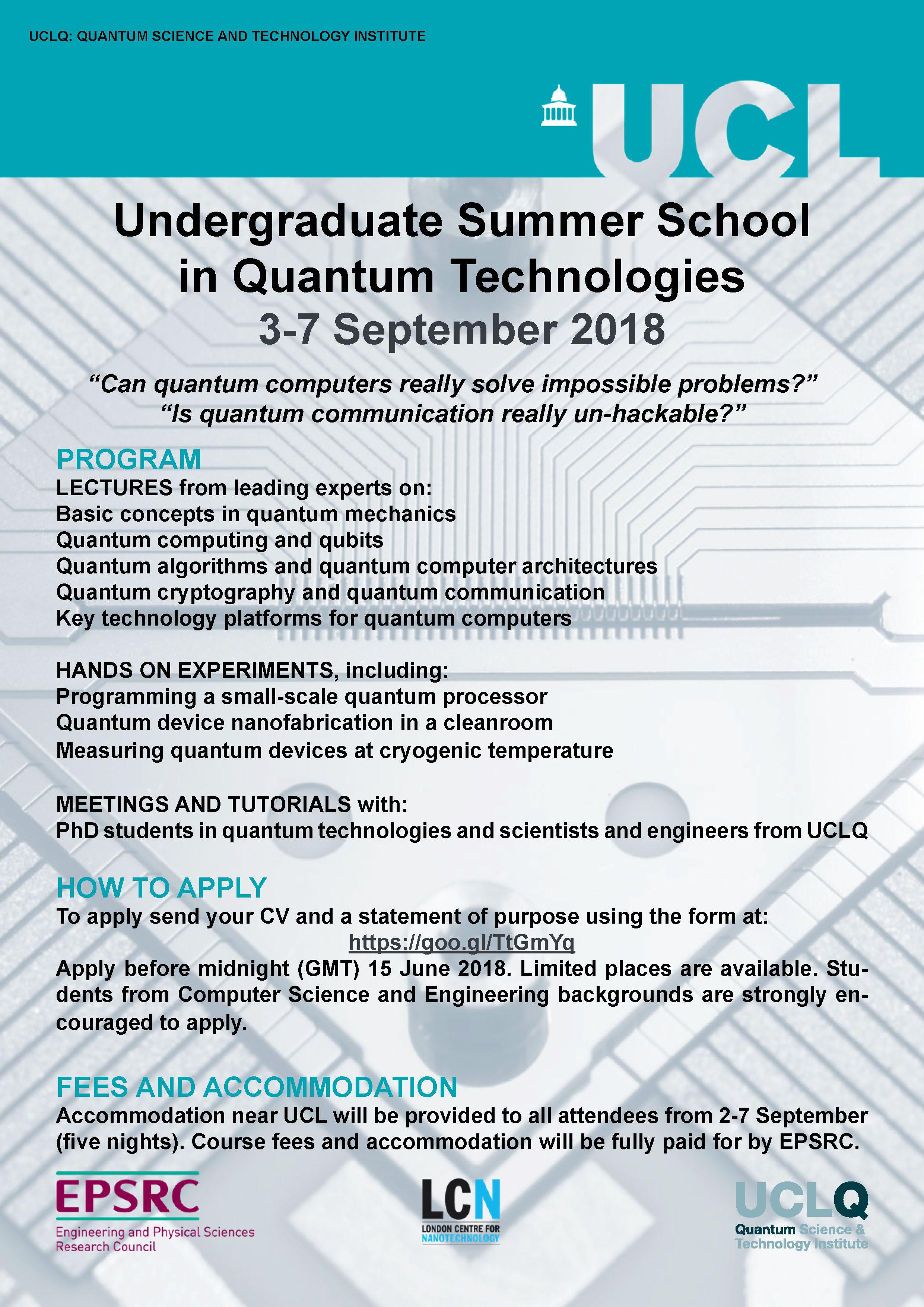 UCLQ Summer School 2018 adv